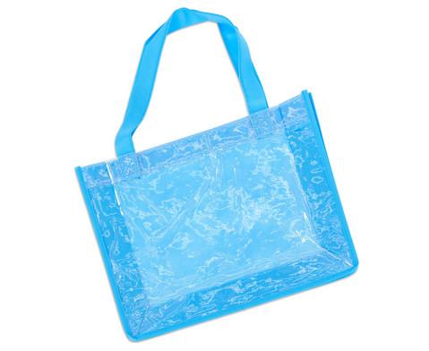 Blaue Tasche A4 Querformat