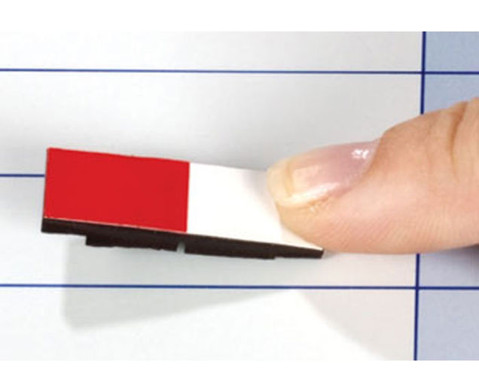Lehrermagnet 10 x 30 mm halb farbig-halb weiss-2