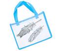Blaue Tasche A4 Querformat-2