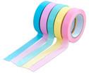 Washi Tape Set aus 5 Rollen Uni Pastell-1