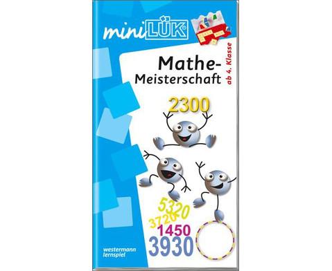 miniLUEK Mathe-Meisterschaft - ab 4Klasse