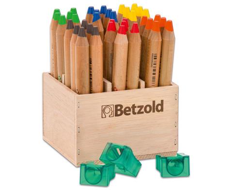 Betzold Buntstifte 36 Stueck im Holzaufsteller mit Spitzer