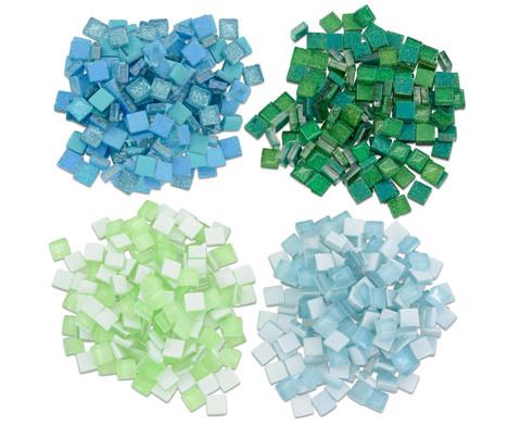 Mosaiksteine Softglas nachtleuchtend  glitter