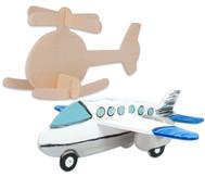3D-Puzzle aus Holz: Hubschrauber und Flugzeug