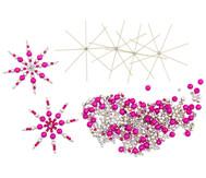 Draht-Weihnachtssterne-Set pink-pink-silber