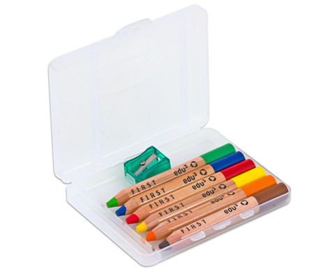 Buntstifte 6er Set inkl Spitzer-1