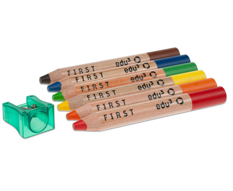 Buntstifte 6er Set inkl Spitzer-3