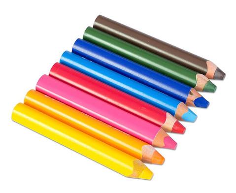 Super JUMBO-Farbstifte 6er Set inkl Spitzer-2