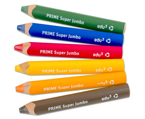 Super JUMBO-Farbstifte 6er Set inkl Spitzer-4