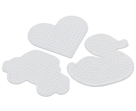 Maxi-Steckplatten 3er Set Ente Herz und Auto