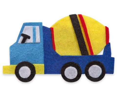 Filzbuttons-Set Fahrzeuge-3