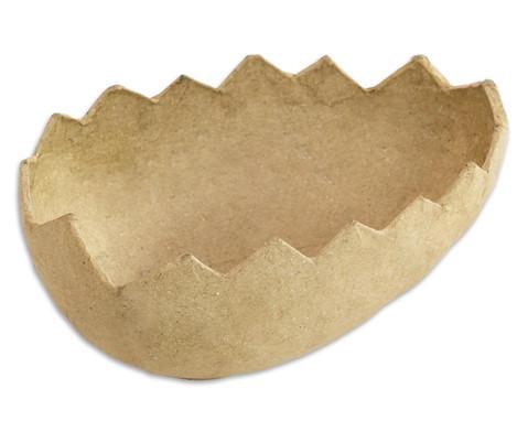 Eierhaelften aus Pappmaschee 5 Stueck