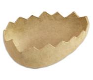 Eierhälften aus Pappmaschee, 5 Stück