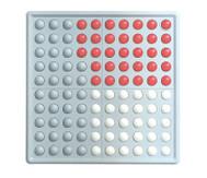 ABACO 100, rot / weiß, Blöcke