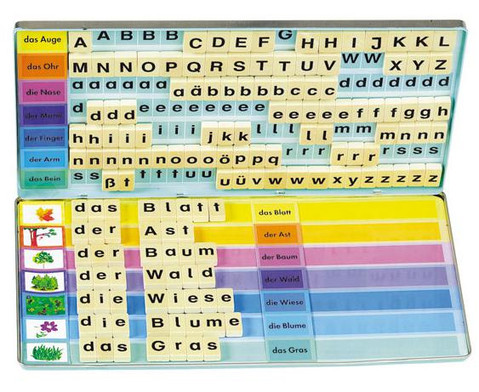 Bilder - Woerter und Buchstaben-Set