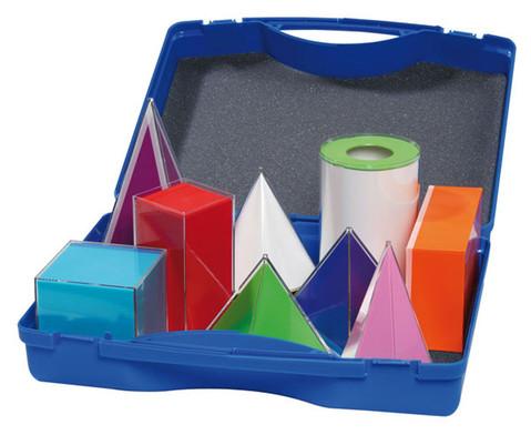 9 Geometriekoerper im Kunststoffkoffer