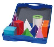 9 Geometriekörper im Kunststoffkoffer