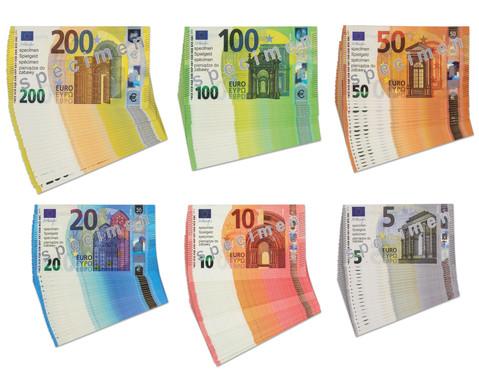 Euro-Geldscheine fuer Schueler