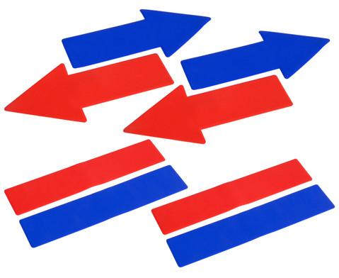 Betzold Sport Bodenmarkierungsset Linien  Pfeile 8-tlg