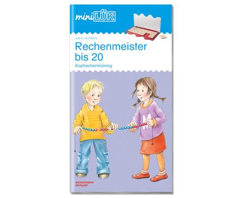 miniLUEK Rechenmeister bis 20