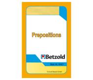 Prepositions - Kartensatz für den Magischen Zylinder