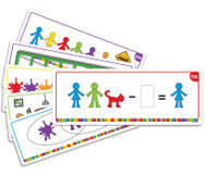 "Lernkarten ""Kunterbunte Rechenfamilie"""