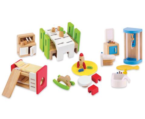 Puppen-Moebel-Set-Erweiterung 45-teilig