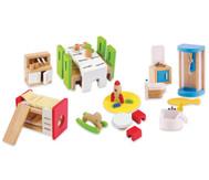 Puppen-Möbel-Set-Erweiterung, 45-teilig