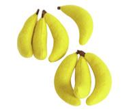 Filz-Bananen, 7 Stück,  ca. 8 cm