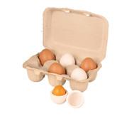 Eierschachtel mit 6 Eiern