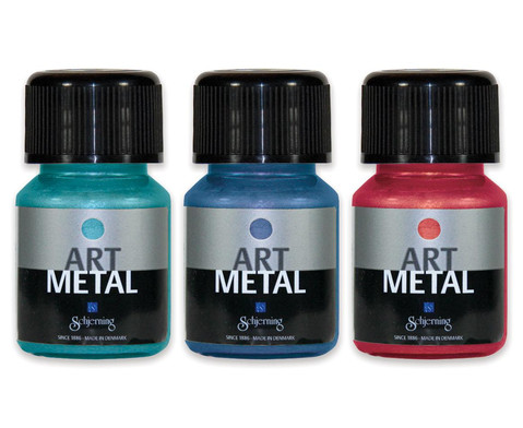 Metallic Farben 3er-Set - tuerkis rot blau