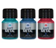 Metallic Farben, 3er-Set - türkis, rot, blau