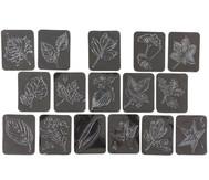 16 Rubbel-Platten: Blätter
