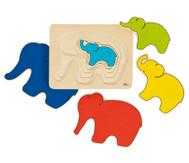 Schichtpuzzle Elefant