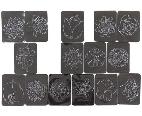 Rubbel-Platten Blumen  16-tlg Set-1