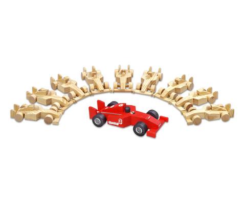 10er-Set Holzautos