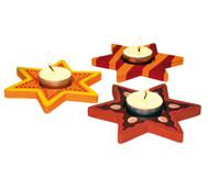 Sternförmiger Teelichthalter
