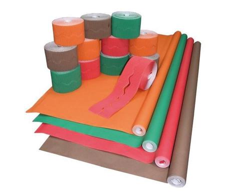 Komplett-Set Bordueren  Papier in Herbstfarben-1