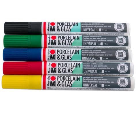 Porzellan Malstifte 5er-Set Grundfarben