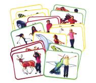 16 Yoga-Karten Tiere