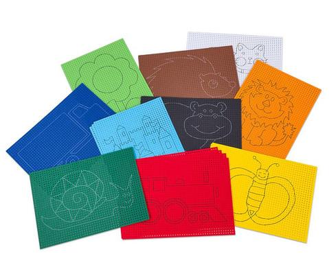 Stickkarton 40 Blaetter mit 10 vorgedruckten Motiven-1