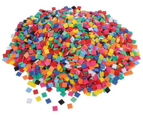Mosaiksteine aus Kunststoff viereckig