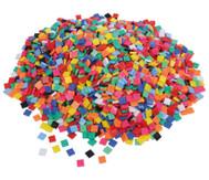 Mosaiksteine aus Kunststoff, viereckig