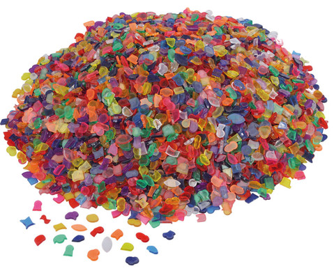 1 kg transparente Mosaiksteine Kunststoff