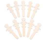 10 Holzfiguren zum Selbstgestalten