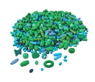 Holzfädelperlen, blau/grün, 250 g