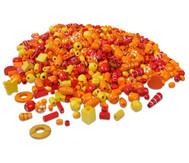 Holzfädelperlen, rot/orange, 250 g