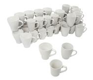 48 Porzellanbecher in verschiedenen Formen
