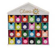 """Adventskalender """"Haus"""", mit 24 Schubladen, blanko"""