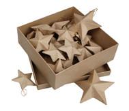18 Pappmaché-Sterne in 3 Größen